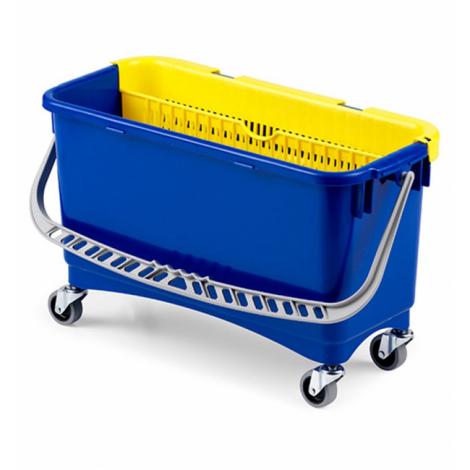 Ведро полипропилен на колесах (20 л) для мытья окон с пластиковым отжимом - TTS