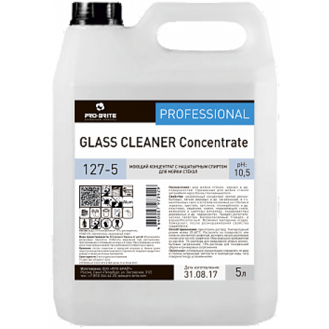 Моющий концентрат для стёкол и зеркал - Pro-Brite Glass Cleaner Concentrate 5л