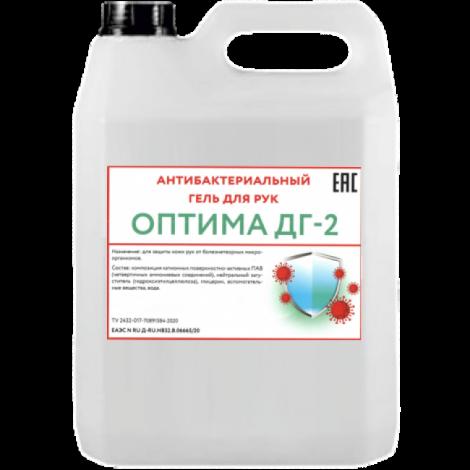 Антибактериальный гель для рук на основе ЧАС, без спирта- ОПТИМА ДГ-2