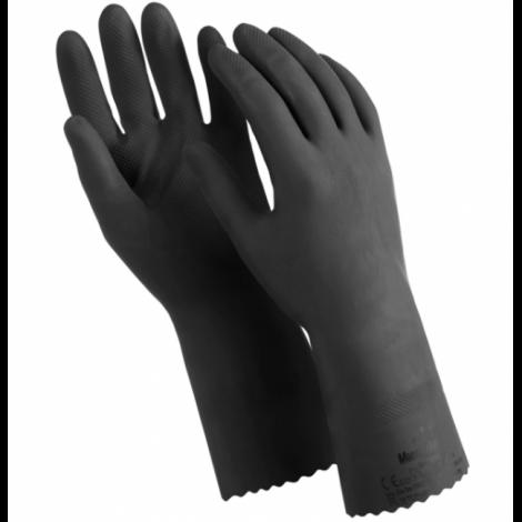 """Перчатки латексные, 1 пара, двухслойные, размер M, черные - MANIPULA """"КЩС-1"""""""