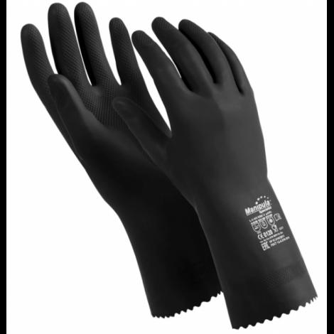 """Перчатки латексные, 1 пара, ультратонкие, размер S, черные - MANIPULA """"КЩС-2"""""""