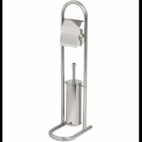 Держатель для туалетной бумаги и ерш ЛАЙМА, НАПОЛЬНЫЙ, нержавеющая сталь, зеркальный
