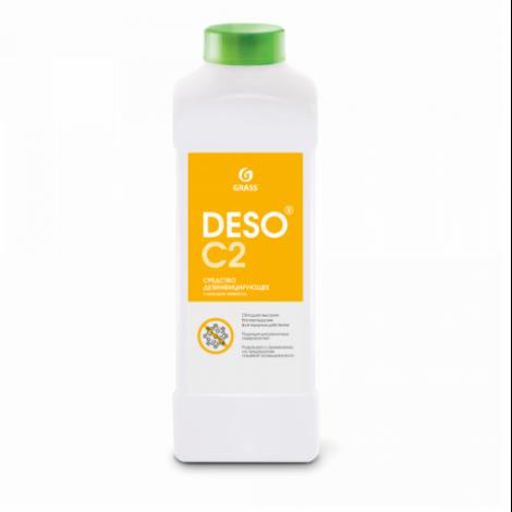 Дезинфицирующее средство с моющим эффектом на основе ЧАС - GRASS DESO C2 клининг 1л