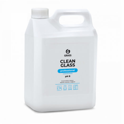 Очиститель стекол и зеркал  - GRASS Clean Glass concentrate Professional 5л