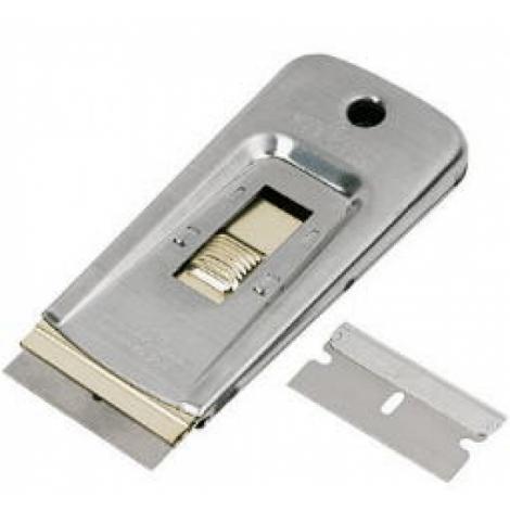 Скребок для стекла карманный, металический - TTS Handley