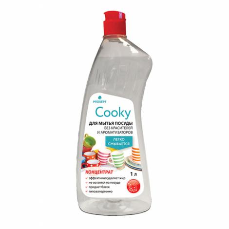 Концентрат, гель для мытья  посуды вручную. Без запаха - Prosept Cooky 1л