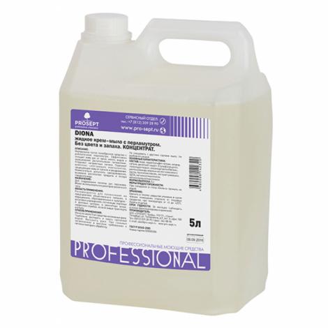 Жидкое гель-мыло с перламутром. Без цвета, без запаха - Prosept Diona 5л