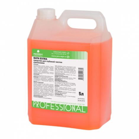 гелеобразное средство усиленного действия для удаления ржавчины и минеральных отложений - Prosept Bath Extra 5л