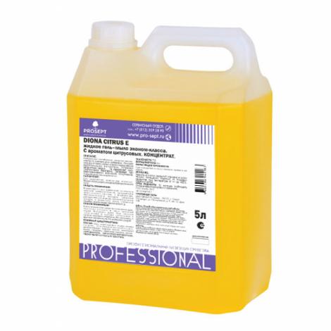 Жидкое гель-мыло эконом-класса. C ароматом цитрусовых - Prosept Diona Citrus E 5л