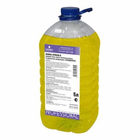 Жидкое гель-мыло эконом-класса. C ароматом цитрусовых - Prosept Diona Citrus E 5л ПЭТ