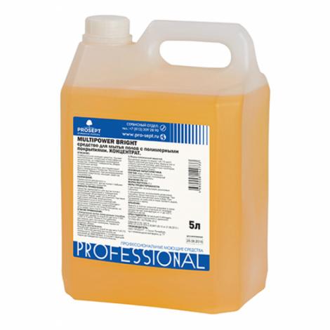 Средство для мытья полов с полимерным покрытием - Prosept Multipower Bright 5л