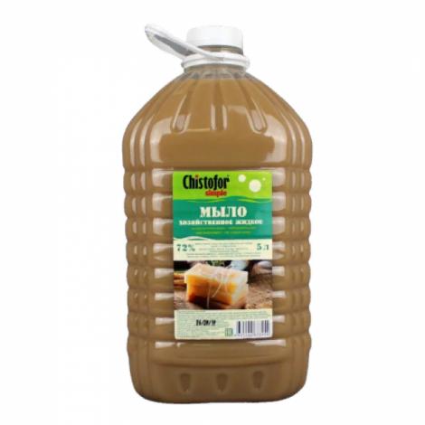 Жидкое хозяйственное мыло -  Chistofor Simple 5л, ПЭТ