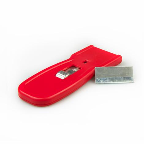 Скребок для стекла карманный, пластиковый - Super Clean C-060