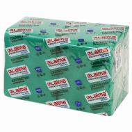 """Салфетки бумажные 400 шт., 24х24 см, LAIMA, """"Big Pack"""", зеленые (интенсив), 100% целлюлоза"""