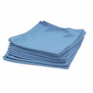 Салфетка для стекла, микрофибра, гладкого плетения, 40х40 см, синяя, 290 гр/м2