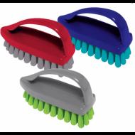 """Щетка """"Утюжок"""" , средняя, 7,5х10,5х4,5 см, пластик, цвет ассорти - YORK"""