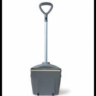 Совок для мусора закрывающийся, + щетка на рукоятках 94 см, помещение/улица - ЛАЙМА PROFESSIONAL