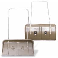 Лопата снегоуборочная (скрепер) на колесах, пластиковая, 82х45 см, высота 120 см, металлическая ручка, №8 - BERCHOUSE