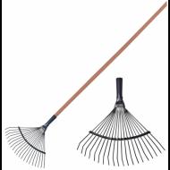 Грабли веерные проволочные, 20 зубьев, ширина 39 см, деревянный черенок 120 см