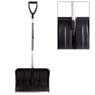 Лопата снегоуборочная, пластик, 54х37 см, высота 130 см, с алюминиевым черенком и наконечником, №13 - BERCHOUSE