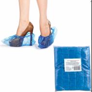 Бахилы 100 штук в упаковке, ЭКОНОМ, 40х15 см, 30 мкм, 3,2 г, ПВД,