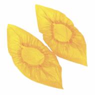 Бахилы 100 штук в упаковке, ДЕТСКИЕ, 30х14 см, 22 мкм, 2 г, ПНД, желтые - ЛАЙМА