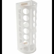 Диспенсер для бахил и пакетов, пластиковый, настенный, белый, самоклеящийся, 45х16х13 см
