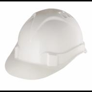 Каска защитная, ударопрочный пластик, размер 52-66, белая