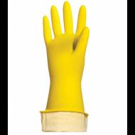 """Перчатки хозяйственные латексные """"Стандарт"""", хлопчатобумажное напыление, размер XL - ЛАЙМА"""