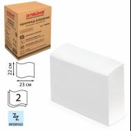 Полотенца бумажные 2-слойные, Z-сложения, 200 листов, комплект 20 шт, белые, 22х23 - ЛАЙМА (Система H2)