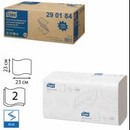 Полотенца бумажные 2-слойные, ZZ-сложения, 200 листов, комплект 20 шт, белые, 23х23 - TORK Advanced (Система H3)