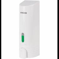 Диспенсер для жидкого мыла ЛАЙМА, наливной, 0,38 л, ABS-пластик, белый