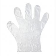 Перчатки полиэтиленовые одноразовые, КОМПЛЕКТ 50 пар (100 шт.), размер L, 6 мкм