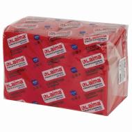 """Салфетки бумажные 400 шт., 24х24 см, LAIMA, """"Big Pack"""", красные (интенсив), 100% целлюлоза"""