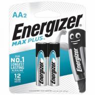 Батарейки КОМПЛЕКТ 2 шт., ENERGIZER Max Plus, AA (LR06,15А), алкалиновые, пальчиковые, блистер