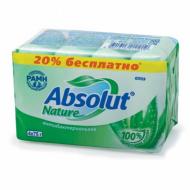 """Мыло туалетное 300 г, ABSOLUT (Абсолют), комплект 4 шт. х 75 г, """"Алоэ"""", антибактериальное"""
