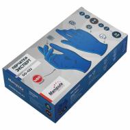 """Перчатки нитриловые MANIPULA """"Эксперт"""", неопудренные, КОМПЛЕКТ 50 пар, размер 8 (M), синие, DG-022"""