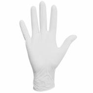 Перчатки латексные белые, 50 пар (100 шт.), опудренные, прочные, размер S (малый), LAIMA