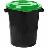 Контейнер 60 литров для мусора, БАК+КРЫШКА (высота 55 см, диаметр 48 см), ассорти, IDEA, М 2393/СЕРЫЙ
